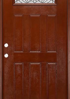 fm 285 mahogany exterior fiberglass single door