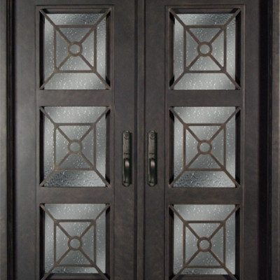 s516phxx 61 steel 735 x 81 double exterior iron entry doors - Single Exterior Doors
