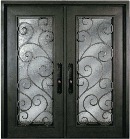 S516shxx 54 steel 64 x 81 double exterior iron entry for 72 x 80 exterior door