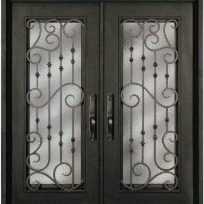 S516WHXX 54 Steel 64u2033 X 81u2033 Double Exterior Iron Entry Doors
