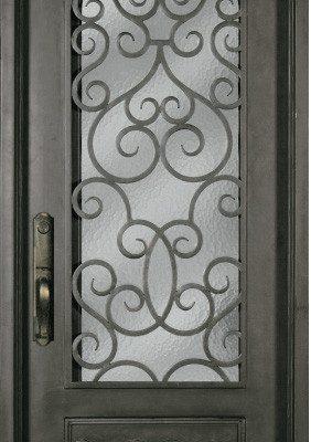 ss518shx 34 steel single exterior iron entry door - Single Exterior Doors