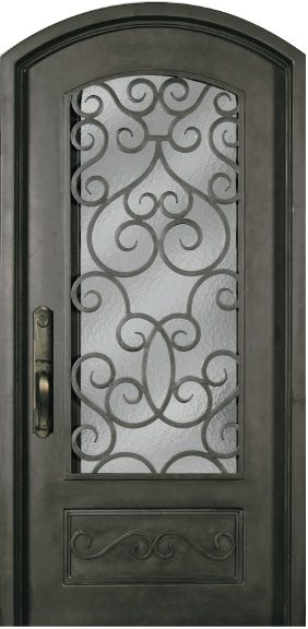 Steel Single Exterior Iron Entry Door SS518SHX 34