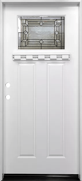 white single exterior fiberglass door fm300