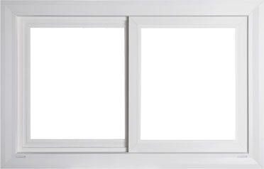 White Vista PLUS Slider Vinyl Window
