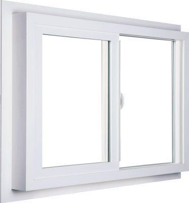 White Vista Slider Vinyl Window