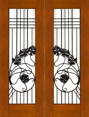 Mahogany Contemporary Double Exterior Door NW-1637  sc 1 st  Home Entry Doors u0026 Windows & NW-1637 Mahogany Contemporary Double Exterior Door - Jeunesse Wood ... pezcame.com