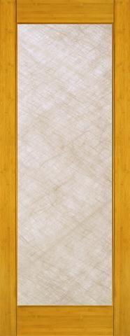 Bamboo Single Interior Door BM 31 Silk Glass